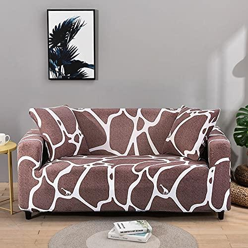 WXQY Funda de sofá de Esquina de Color sólido Funda de sofá Universal para Sala de Estar Funda de sofá elástica para sofá Toalla Funda de sofá de Esquina A19 2 plazas