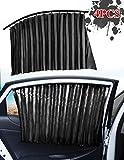 Zobir Cortinas para Parasol De Coche (4 Piezas), Parasoles Magnéticos De Ventana Lateral para Bloquear Los Rayos UV Y para La Privacidad, para Coche, Camión, Furgoneta, SUV