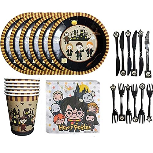PAWT Wizard Theme Party Supplies Harry's Potter Theme Party Supplies Set Birthday Tableware Decoration Party Supplies