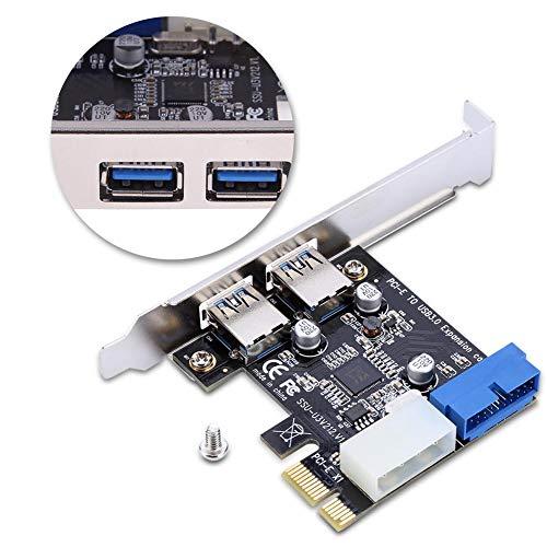 PCI-E To Smart 2 Porte Adattatore scheda di espansione USB3.0 con interfaccia Front 19PIN, USB3.0, 5Gb / s Supporto per Windows XP 32/64, Windows 7 32/64, Windows8, Windows8.1, Windows10 Operating Sys