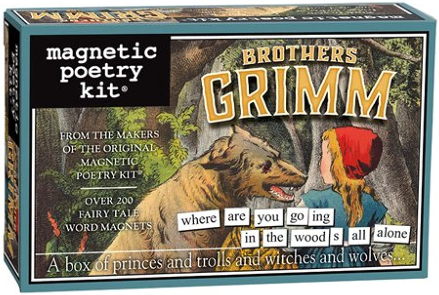 Magnetic Poetry - Bredhers Grimm Kit - Words for Refrigerator - Write Poems and Letters on The Fridge - Made in The USA
