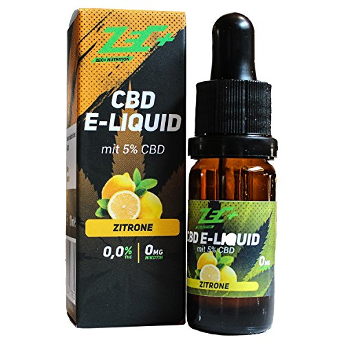 ZEC+ CBD LIQUID   5% CBD   10ml   Lemon...