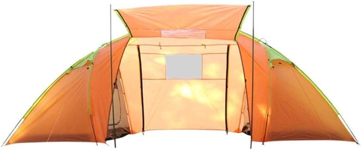FXX Guo Outdoor Products Tentes d'extérieur à Deux Chambres Haut de Gamme, Multifonctions 5-8 Personnes utilisent des tentes, Pluie, crème Solaire, tentes de Repas la Famille portatives