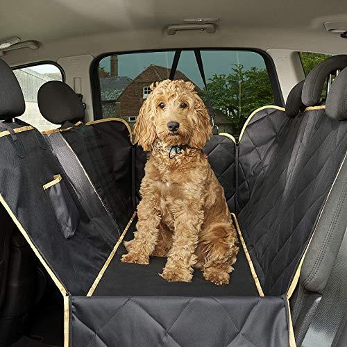 Mascotas Originales Perro Trasero Cubierta Cubierta Protector Impermeable Hamaca A Prueba De Rasguños Para Perros Backseat Protección Contra Suciedad Y Pieles De Mascotas Duraderas Cubier(Color:Negro)