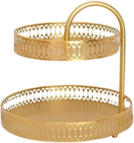 HBRE latest Double Fruit Basket Metal Bowl Modern Simple 55% OFF T