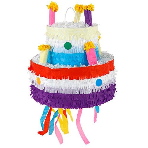 Pinata Piñata Torte Einhorn Schatztruhe Papier Geburtstag Mottoparty Süßigkeiten Geschenk (Torte)