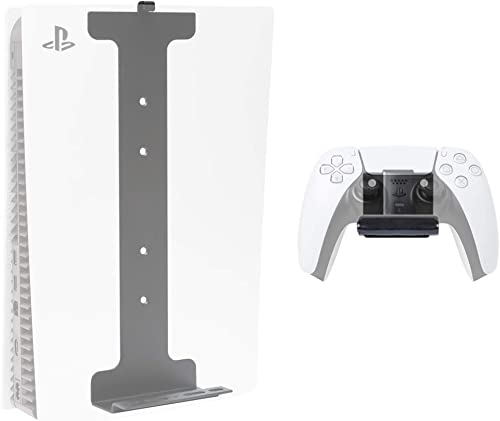 HIDEit PS5 WALL MOUNT Pro Bundle - Wall Mounts for PlayStation 5 (Disc and Digital) & Controller - Made in the USA an...