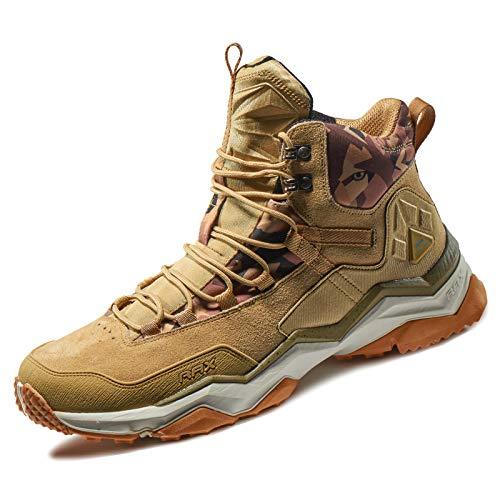 Rax Men's Wild Wolf Mid Venture Waterproof Lightweight Hiking Boots,Light Khaki,9 D(M) US