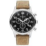 Davosa Swiss Heritage Chronograph 16247956Herren Armbanduhr aus echtem Leder, schwarz