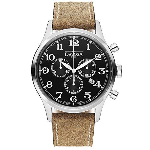 Davosa Swiss Heritage Cronografo 16247956 - Orologio da polso da uomo, in...