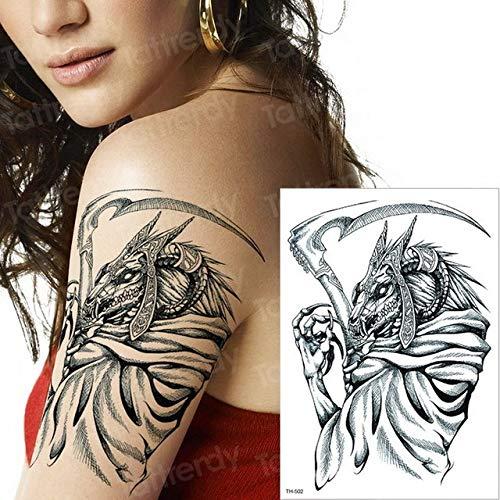 adgkitb 3pcs temporäre Tätowierung Kreuz Halloween Tattoo Tattoo Body Art Tattoo Zurück Schwarz Tatto 3D Tattoos Aufkleber TH502 21x15cm