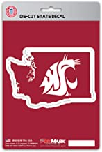 ProMark NCAA Washington State Cougars Die-CutState Shape, Team Colors, One Size