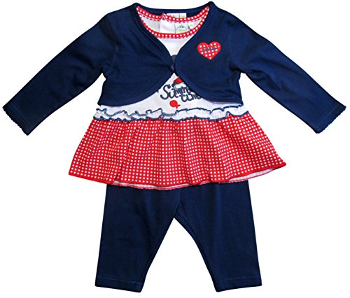 Minnie Mouse Kollektion 2018 Kleid, Leggins und Bolero 56 62 68 74 80 86 92 Shirt Madchen Top Maus Set Weiss-Blau Weiss-Blau, 68 ( 6 Monate...