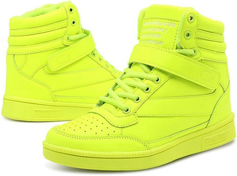 T-JULY Women Fashion High Top Hook Loop Lace Up Platform Casual shoes Female Hidden Wedge Heel Sneakers