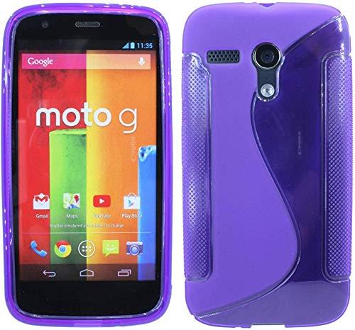 ENERGMiX S-Line TPU SchutzHülle kompatibel mit Motorola Moto G (1.Gen) Silikon Hülle in Lila