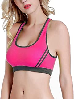ZYDP 3 Pack, Women's Seamless Sports Bra High Impact Full Support Racerback Workout Gym Activewear Bra (Color : 3PackC, Si...