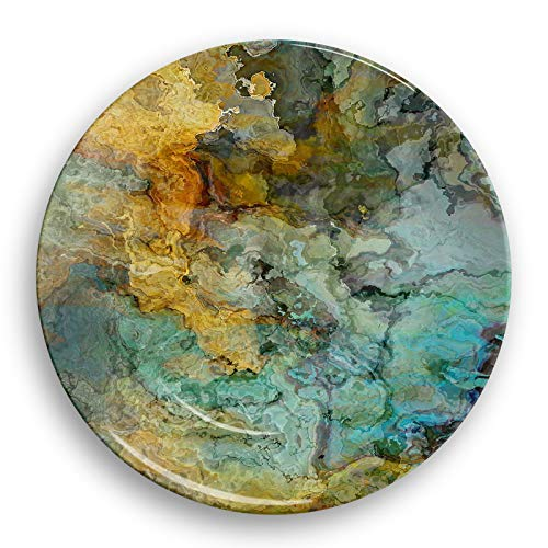 Microwave safe outdoor plate or bowl with abstract art, Kinetic