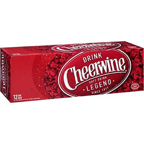 Cheerwine Cherry Soda Drink (24 Cans)