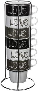 Mugs sur support métal ''LOVE'' X6