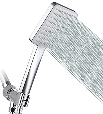 """GRICH Shower Head High Pressure Shower Heads with Handheld, 6 Spray Settings Detachable Shower Head with 59"""" Stainless Steel Shower Hose and Adjustable Bracket"""