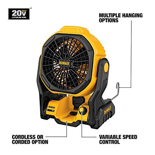 DEWALT 20V MAX Cordless Fan for Jobsite, 11-Inch, Tool Only (DCE511B)