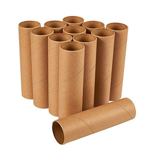 Juvale Bastelrollen (Set, 12 Stück) - Papprollen - Ideal zum Versand, Verpacken, Dekorieren, Modellbau - Kreatives Basteln - Karton, Braun,15 cm