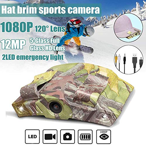 JSX HD 1080P cap brim hat clip actie camera sport fotografie recorder outdoor camping noot versie met LED Light