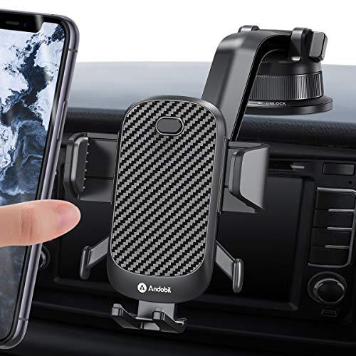 andobil Handyhalterung Auto Saugnapf Handyhalter fürs Auto KFZ Handy Halterung Auto Zubehör für iPhone SE 2020/11/Samsung S20/ S10/ S9/ Huawei P30 pro/Xiaomi/OnePlus usw