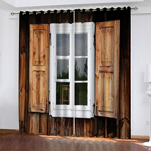 MMHJS Creative Home Decoration Blackout Curtains A Curtain To Effectively Protect Personal Privacy Suitable For Bathroom, Balcony, Bedroom Curtains 2 Pieces