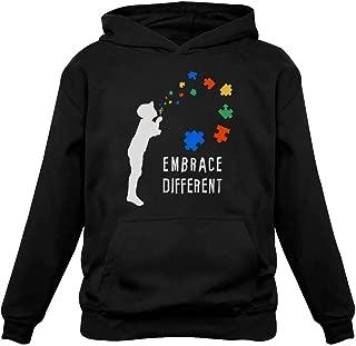 Embrace Different - Autism Awareness Women Hoodie
