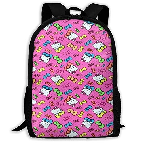 Rosa Linda Hello Kitty (2) Bolsas de la Escuela Mochila de Senderismo Mochila de la Escuela Mujeres