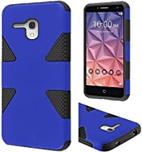 FastSun Dynamic Hybrid Case Phone Cover for Alcatel One Touch PIXI Glory A621BL A621BG (Dark Blue-Black)