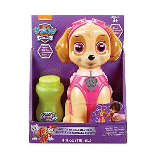 Nickelodeon Little Kids Paw Patrol Skye Action Bubble Blower and Includes Bubble Solution