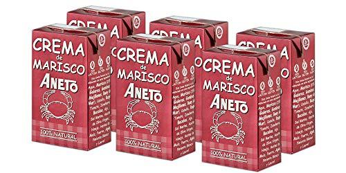 Aneto 100% Natural - Crema de marisco - caja de 6 unidades de 1 litro