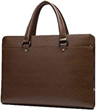 LBYMYB Men's Password Lock Business Handbag Men's Bag Leather Cross Section Casual with Briefcase 385x285x65mm Business Briefcase (Color : Brown)