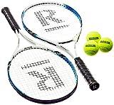 Ransome Sporting Goods - Set di racchette da tennis per adulti, 27'', colore: Nero/Bianco/Blu