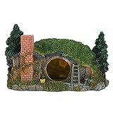 Pssopp Decoración artificial de resina para acuario, decoración de casa de peces, camarones, refugio, peces, peceras, rocosería, paisajismo, decoración con piedra de aire