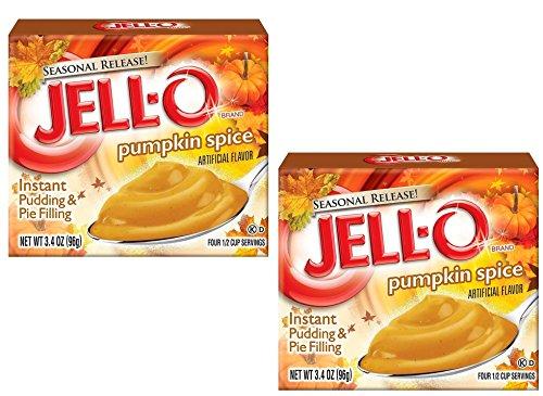 Kraft Jell-O InstantPudding Dessert & Pie Filling, Pumpkin Spice, 3.4 Oz. Boxes (Pack of 2)