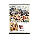 chtshjdtb Long John Whisky Vintage Alcohol Duction Art Posters Pintura Impresión Sala de estar Decoración para el hogar-20X28 Pulgadas Sin marco 1 Uds