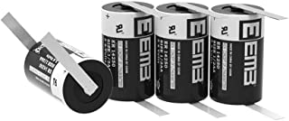 EEMB 1/2 AA 3.6 V Lithium Battery with Tabs ER14250 1200 mAh High Capacity Li-SOCl2 3.6Volt Lithium Thionyl Chloride Batteries Non Rechargeable UL Certified