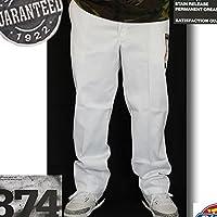 ディッキーズ ワークパンツ 874 WORK PANTS ホワイト 白 dickies (32インチ) [並行輸入品]