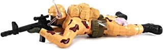 Toy Action Figures Crawling Army Corp Soldier Battery Operated w/ Realistic Crawling Action, Flashing Lights, Gun & Fire Sounds (Colors May Vary)