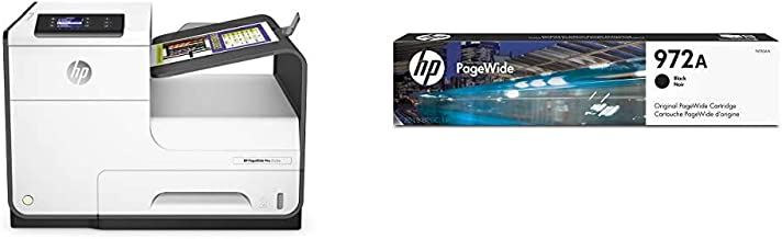 HP PageWide Pro 452DW Color Business Printer, Wireless & 2-Sided Duplex Printing (D3Q16A) with Standard Yield Black Ink Ca...