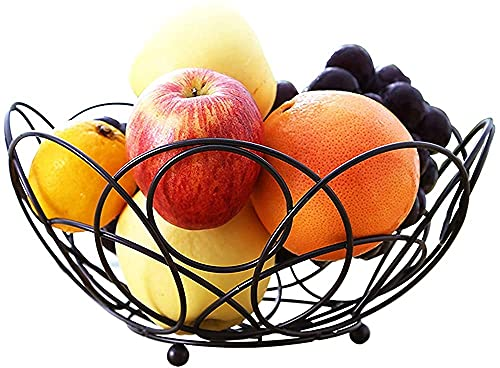 H.Q Kitchen Counter Wave Fruit Basket Serving Bowl Wire Fruit Dish For Fruits And Veggie-Farmhouse Fruit Bowl -It's Sturdy And Easy To Assemble