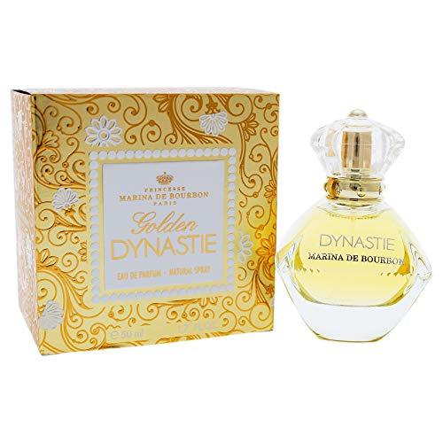 Golden Dynastie by Princesse Marina de Bourbon | Eau de Parfum Spray | Fragrance for Women | Feminine, Fruity, and Luxurious with Notes of Rose, Hyacinth, and Green Apple | 50 mL / 1.7 fl oz