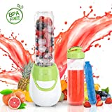 Aigostar Greenberry 30JDH - Mini Standmixer 600W Smoothiemaker mit 1 kühl Stock, 2 Reisesportflaschen und 2 Deckel, Tritan Material in Lebensmittelqualität,600 ml.EINWEGVERPACKUNG.