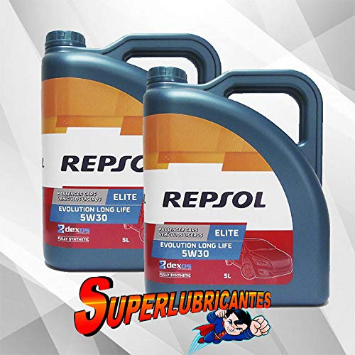 Mundocoche Repsol Elite Evolution Long Life 5W30 2x5L(10Litros)