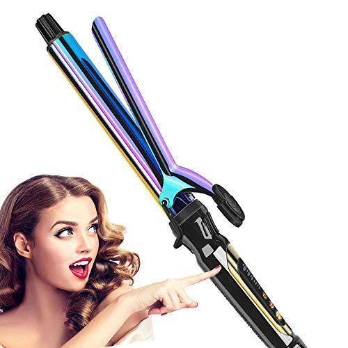 Kleurrijke negatieve ionen krulstaaf snel opwarmen keramiek krultang voor alle soorten haar (22 mm, 25 mm, 28 mm, 32 mm) 25mm