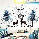 Yubing Wandaufkleber Tierbild Wohnzimmer Schlafzimmer Wanddekoration PVC Wasserdicht Selbstklebend -