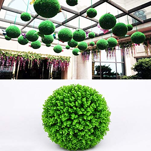 WHANG Künstliche Grüne Eukalyptus Pflanze Kugel Topiary Hochzeit Ereignis Start Außendekoration hängende Verzierung, Durchmesser: 15 Zoll.